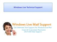 Windows Live Mail Technical Support-converted