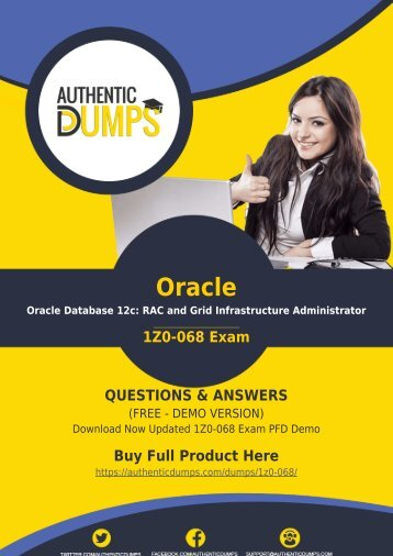 AuthenticDumps - Oracle 1Z0-068 Dumps PDF Prep by Oracle Database 12c Certified Expert