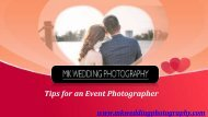 Tips for an Event Photographer