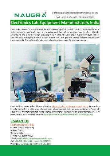 Electronics Lab Equipment Manufacturers India