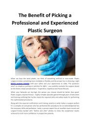 The-Benefit-of-Picking-a-Professional-and-Experienced-Plastic-Surgeon