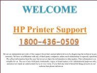 Support For HP Printer 1800-436-0509 HP Printer Tech Support Phone Number