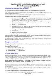 Handlungshilfe zur Gefährdungsbeurteilung nach Biostoffverordnung