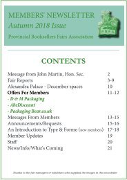 Members' Newsletter - Autumn Issue