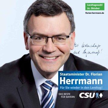 Wahlbroschüre Dr. Florian Herrmann