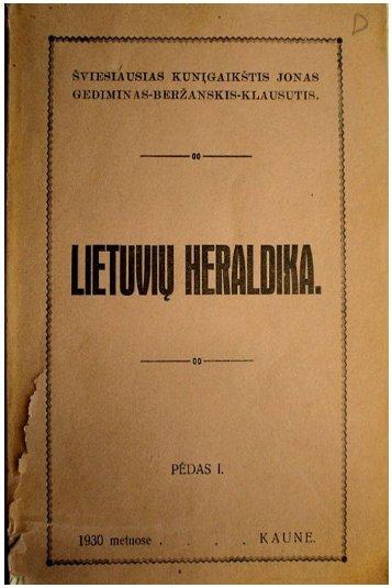 Lietuviu heraldika. Jonas Beržanskis.