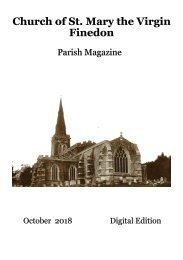 St Mary's October 2018 Parish Magazine