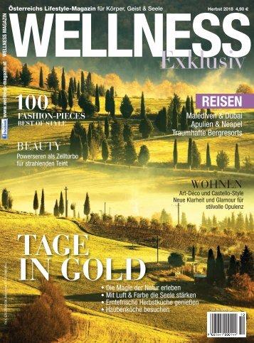 WELLNESS Magazin Exklusiv - Herbst 2018