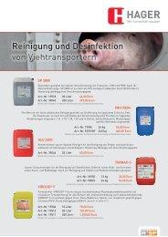 Reinigung und Desinfektion von Viehtransportern - Hager Vertriebs ...