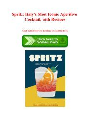 [PDF] Download Spritz Italy's Most Iconic Aperitivo Cocktail  with Recipes Forman EPUB  PDF