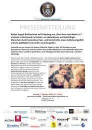 Pressemitteilung Barber Angels erstmals in Dortmund am 7. Oktober 2018