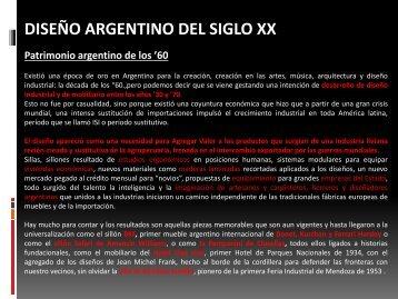 DISEÑO EN ARGENTINA