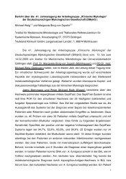 """Bericht über die 41. Jahrestagung der Arbeitsgruppe """"Klinische"""