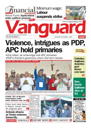 01102018 - Violence, intrigues as PDP, APC hold primaries