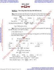 Cách tìm công thức hóa học lớp 8