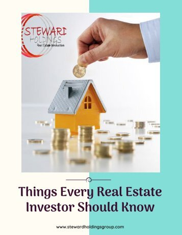 Find 3 Things Which Every Real Estate Investor Should Know