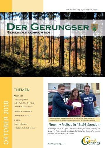 Der Gerungser - Oktober 2018