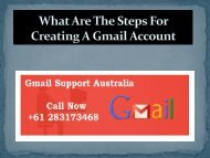 What Are The Steps For Creating A Gmail Account