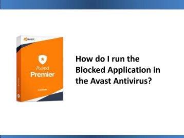 How do I run the Blocked Application in the Avast Antivirus?