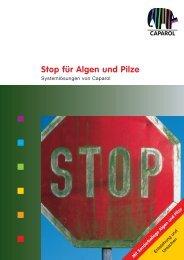 Stop für Algen und Pilze - Caparol Farben AG