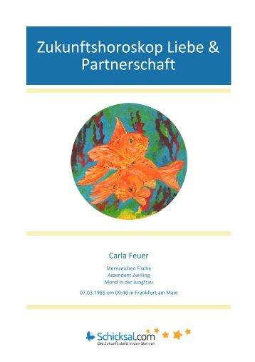 Zukunftshoroskop Liebe und Partnerschaft Carla