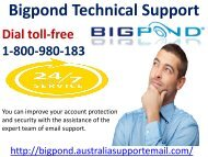 Fail In Retrieve Lost Password? 1-800-980-183 Bigpond Technical Support