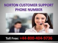 Norton Customer Support Phone Number +44-800-404-9736
