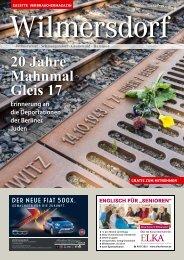 Gazette Wilmersdorf Oktober 2018