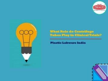 Plastic Centrifuge Tubes for Laboratory