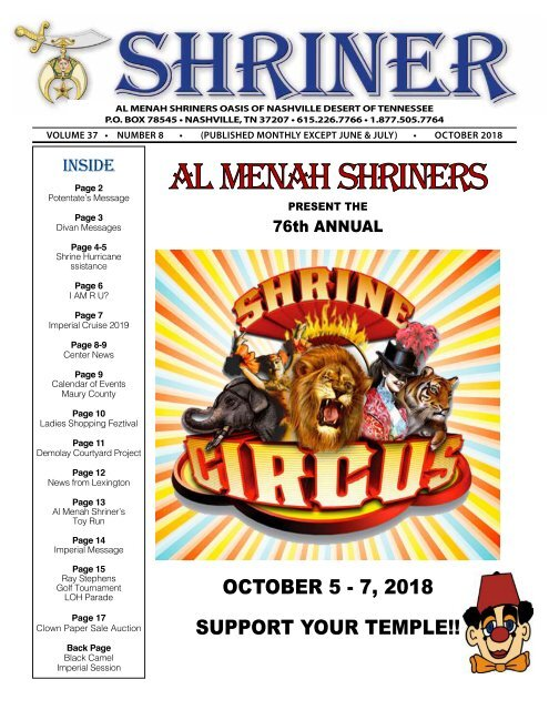 SHRINER OCTOBER 2018