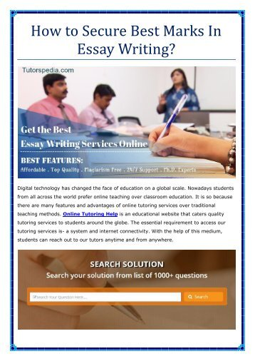 How to Secure Best Marks In Essay Writing?