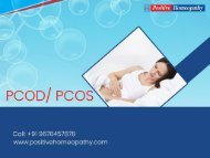 Homeopathy treatment for PCOD in Bangalore | Homeopathic medicine for PCOD