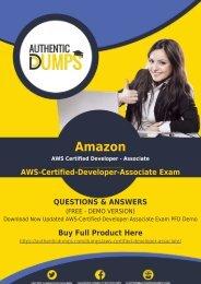 AWS-Certified-Developer-Associate Exam Dumps | Why AWS-Certified-Developer-Associate Dumps Matter in AWS-Certified-Developer-Associate Exam Preparation