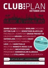 Clubplan Hamburg - Oktober 2018
