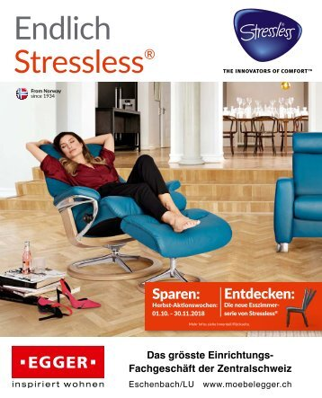 Endlich Stressless - Herbst 2018 - Möbel EGGER