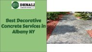 Best Decorative Concrete Services in Albany NY