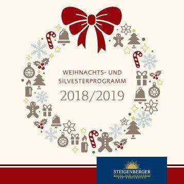 Weihnachts- und Silvesterprogramm