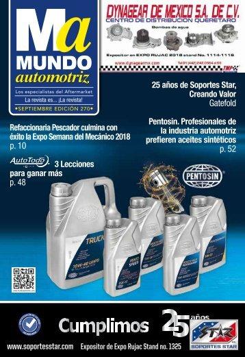 Revista Mundo automotriz 270 Septiembre 2018