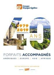 Brochure Forfaits accompagnés 2019 - édition 40e anniversaire