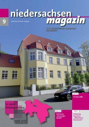 Niedersachsen Magazin September 2018