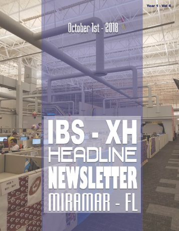 LDP - Year 1 - Vol 4 - Headline Newsletter - October 1st - 2018 - Digital Edition