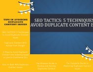 Tips in Avoiding Duplicate Content Issues