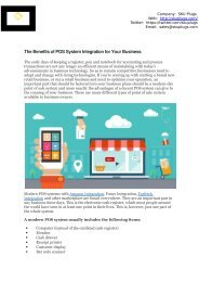The Benefits of POS System Integration for Your Business