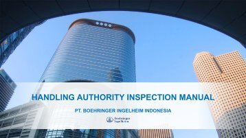 HANDLING AUTHORITY INSPECTION MANUAL