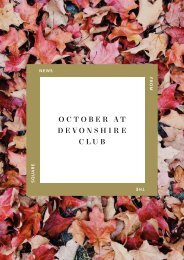 October at Devonshire Club
