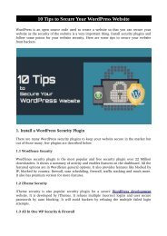 10 Tips to Secure Your WordPress Website