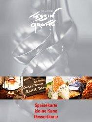 Speisekarte kleine Karte Dessertkarte - Tessin Grotto
