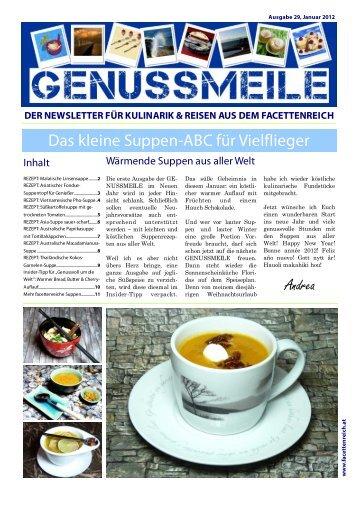 der newsletter für kulinarik & reisen aus dem ... - im Facettenreich