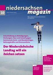 Niedersachsen Magazin Oktober 2018