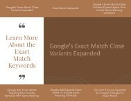 Learn More About the Exact Match Keywords